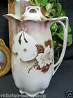 GERMAN COFFEE POT TEAPOT BEADED RAISED GOLD GILT  PAINTED LUSTER TEA POT