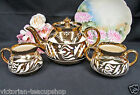GIBSONS MADE IN ENGLAND TEAPOT GOLD GILT  ETCHED TEASET CREAMER