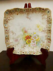 Royal Doulton Burslem floral claw FOOTED SQUARE BOWL- artist signed ca.1891-1902