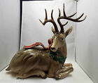 Fitz & Floyd Holiday Leaves Large Deer Centerpiece, with original box