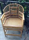 Vintage Bamboo and Cane Chinese Chippendale Chair Hollywood Regency