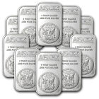 1 oz APMEX Silver Bar .999 Fine Lot of 10 - SKU #81774