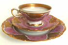 Co. Selb Bavaria Henrich Fanny Gibler 3pc Porcelain Teacup Dessert Set
