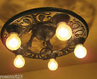 Vintage Lighting 1930s Spanish Revival fixture by Virden. Just 7 inches high