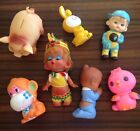 Lot 7 Old VINTAGE Squeak Squeaky Squeaker TOYS Kissing Doll PIG Monkey RABBIT