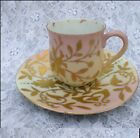 Saucer - Heavy Raised Gold - FLORAL -  BEEHIVE mark