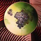 VINTAGE HAND PAINTED CERAMIC ART SIGNED E.CARY GRAPES PLATE VIENNA