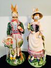 Fitz and Floyd Old World Rabbits - Male and Female Set - Large 18
