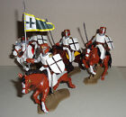 mounted TEUTONIC LANCER KNIGHTS set ARGENTINA DSG Medieval Soldiers Britains