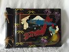 Vintage Japan Black Lacquer Painted Photo Album Scrapbook  ~ Never Used