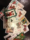 10 Vintage All Different Christmas stamps Mint Never Hinged