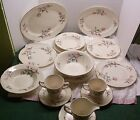 Vtg 1950's Homer Laughlin Rhythm Pink Magnolia  Dinner Set RARE ESTATE FIND