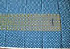 NEW Dresden Plates Exclusively Quilters Blue 1 YARD White Diamonds