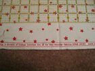 NEW Tiny Tots Vintage Workshop RED ROOSTER FABRICS 1 YD #18183 Red Stars