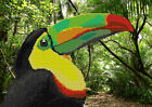 tropical toucan DIY beadpoint kit beaded embroidery seed beads tapestry stitch