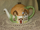 Teapot STAFFORDSHIRE Christopher Wren Cottage Teapot THATCHED COTTAGE Boxed MINT