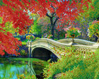 Central Park DIY beadpoint kit beaded embroidery seed beads tapestry crossstitch