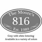 Personalized Family Name Home Address Sign Custom Aluminum 12 x 7 Plaque