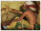 1375Indian paint wall Art Decoration POSTERNative American artistWall decor