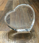 Orrefors Large Crystal Heart Amour Collection 4 1 8 x 4 1 8 Made in Sweden