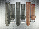 20mm Leather Buckle Strap Curve Edge Thin Pad Band Vacheron Constantin VC II 20