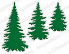 Impression Obsession DIE217 Evergreen Trees 1 Metal Dieis NEW