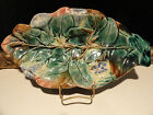 Antique Majolica Morning Glory Leaf Plate, Dish or Server