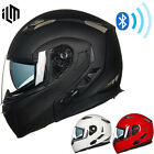 Bluetooth Motorcycle Helmet Integrated Modular Full Face Sun Shield MP3 Intercom