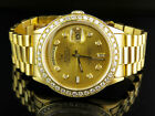 18K Mens Yellow Gold Rolex Presidential Day-Date 36MM Diamond Watch 3.5 CT