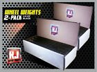 2- BOXES BLACK WHEEL WEIGHTS-1/4 OZ STICK-ON ADHESIVE TAPE (14 LBS) 924 PCS