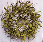 Spring Summer Wreath Beach Cottage Nautical SEASHELL TWIG DOOR WREATH DECOR
