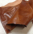 SPL06 Leather Cow Hide Cowhide Upholstery Craft Fabric Rust Brown 20 sf Pieces