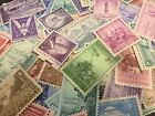 50 MNH Vintage and All Different 3 cent stamps including World War 2 era stamps