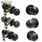 Oil Rubbed Bronze Entry Privacy Passage Dummy Door Lock Knob Set Hardware Lever