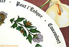 Superb vintage GIEN cheese board platter all french lettering cheese name plate