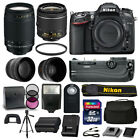 Nikon D7100 DSLR Camera 4 Lens Kit 18 55mm VR +70 300 +Battery Grip Great Value