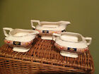 Antique Royal Staffordshire Pottery Hampton pattern, English C.1907 (3 Pieces)NR