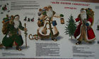 New Old Father Christmas Santa Clause Applique' Panel Treeskirt Apron Pillow Bag