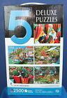 Sure-Lox 5 Puzzle Box Set 500+ Pieces per Color Coded Backs NIB Balloons, etc.