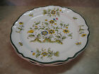 2 New VARAGES FRANCE Vieux Provence GREEN BIRD (Paradise?) SERVICE CHARGER PLATE
