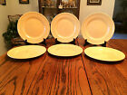 Set of 6 Royal Norfolk Yellow Dinner Plates.  Great Condition