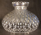10 Clear Glass Diamond Quilted Quilt Oil Kerosene Lamp Shade fits Aladdin SH401