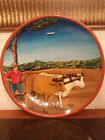 Beautiful  Art Pottery Hand Painted Signed Ceramic Plate 12