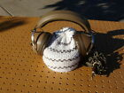 VINTAGE BROWN KOSS K-6LC STEREO HEADPHONES w/ DUAL VOLUME CONTROLS NICE COND