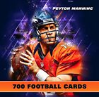 (700) PEYTON MANNING HUGE FOOTBALL CARD LOT COLLECTION