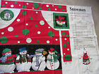 FABRIC TRADITIONS~CHRISTMAS~SNOWMEN APRON~PATTY REED~COTTON DUCK FABRIC PANEL~