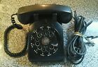 Vintage Bell System Western Electric Black Desk Top Rotary Dial Telephone
