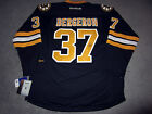 PATRICE BERGERON Boston Bruins SIGNED Autographed Third JERSEY w COA New XL