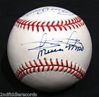 MINNIE MINOSO-BILLY PIERCE-CHICAGO WHITE SOX-AUTOGRAPHED BASEBALL-CUBAN COMET