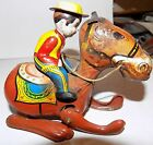 VINTAGE COWBOY AND HORSE WIND-UP MIKUNI MADE IN JAPAN